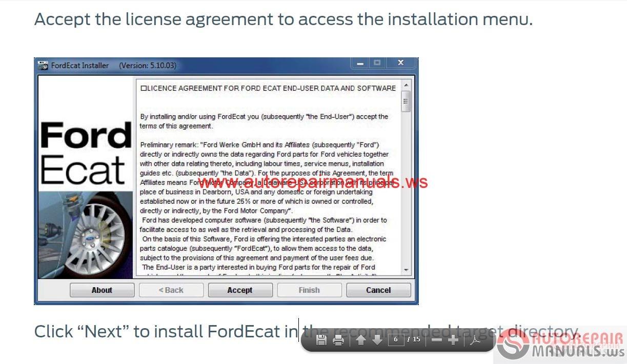 Auto Repair Manuals Ford Ecat 2015 10 Instruction