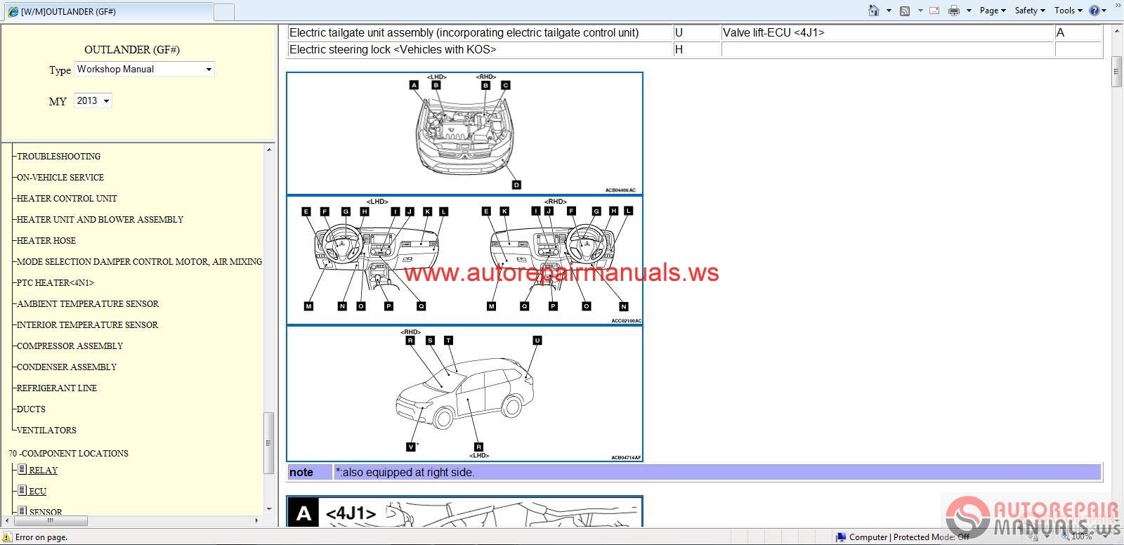 Mitsubishi Outlander Service Manual on Mitsubishi 3000gt Engine Diagram