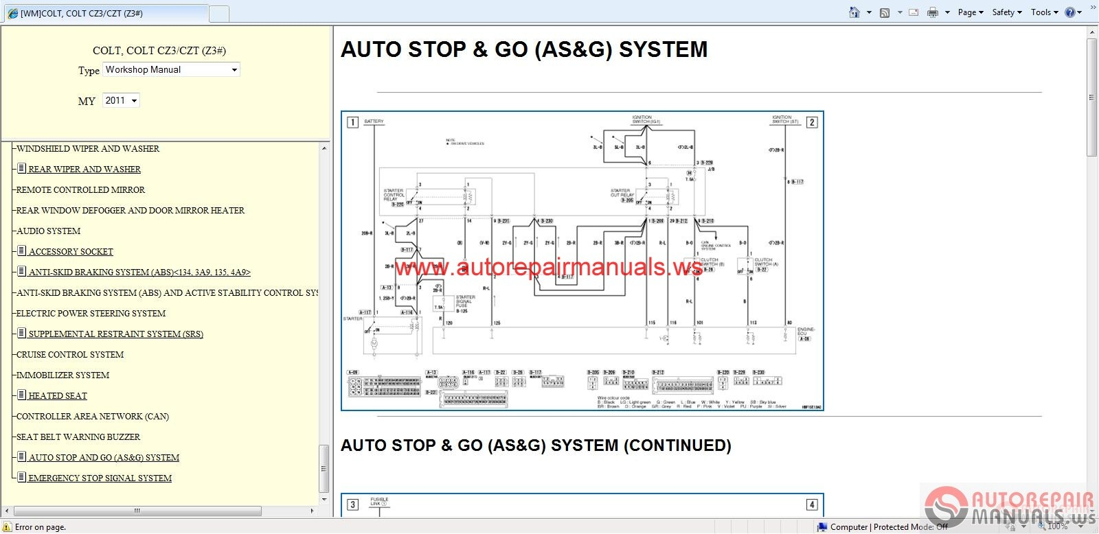 Mitsubishi Colt Wiring Manual