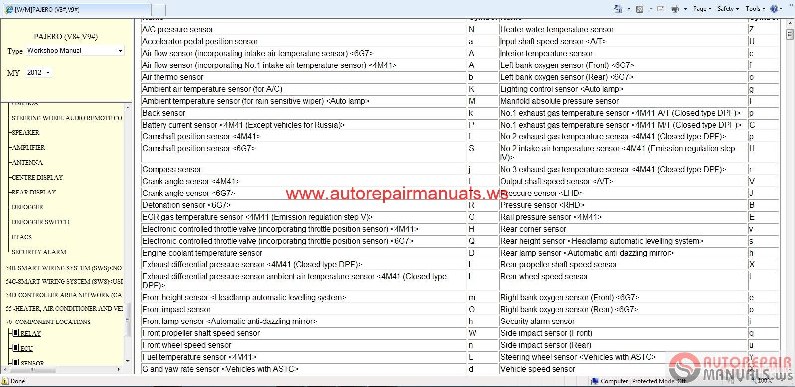 Mitsubishi Pajero Service Manual on Air Conditioner Wiring Diagrams