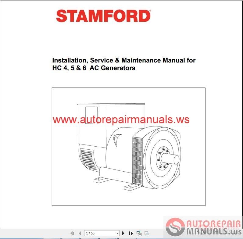 Stamford Hc Ac Generator Installation Service Maintenance Manual on Harley Davidson Softail Wiring Diagram 98