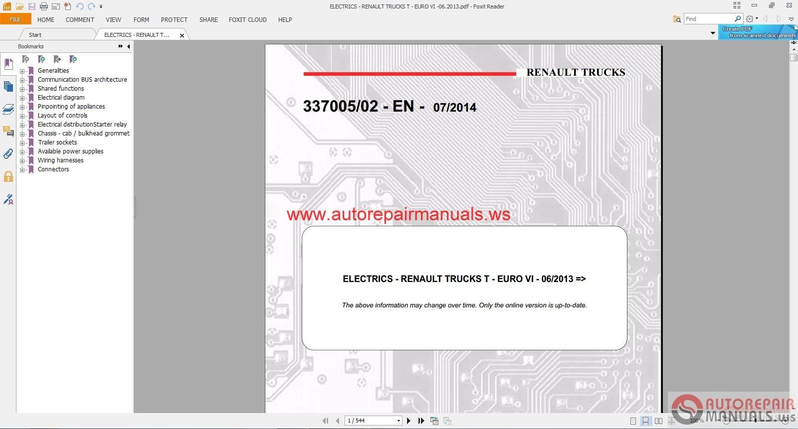 Electrics - Renault Trucks T - Euro Vi