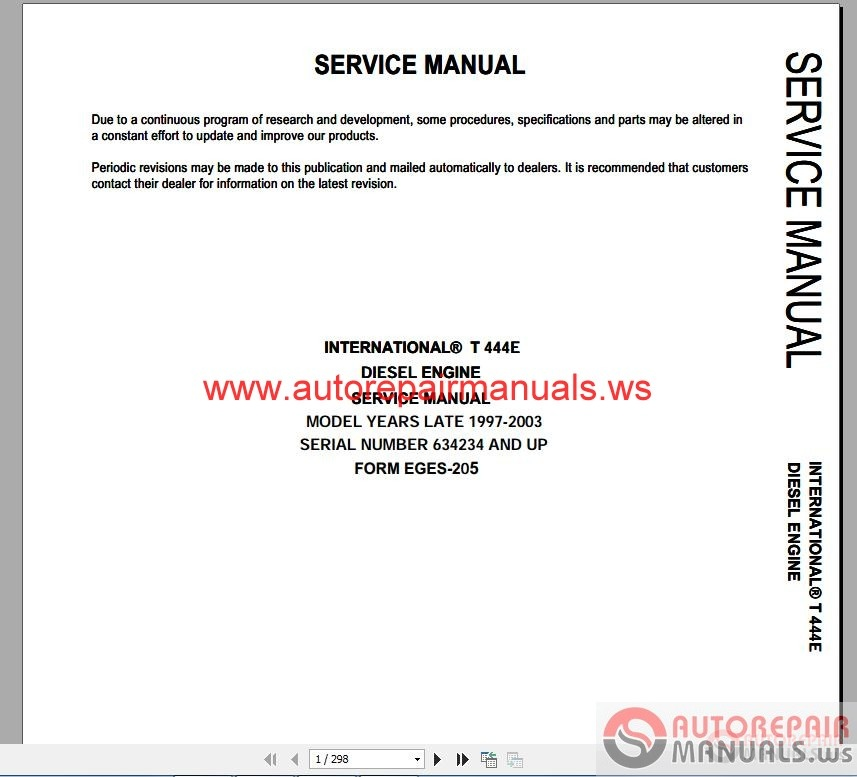international 365 444 466 530 service manuals auto repair air conditioning dt466e 530e ht530 t444e vt365 7 3l pcm pinout dt466 ecm pinout obs 73 bible