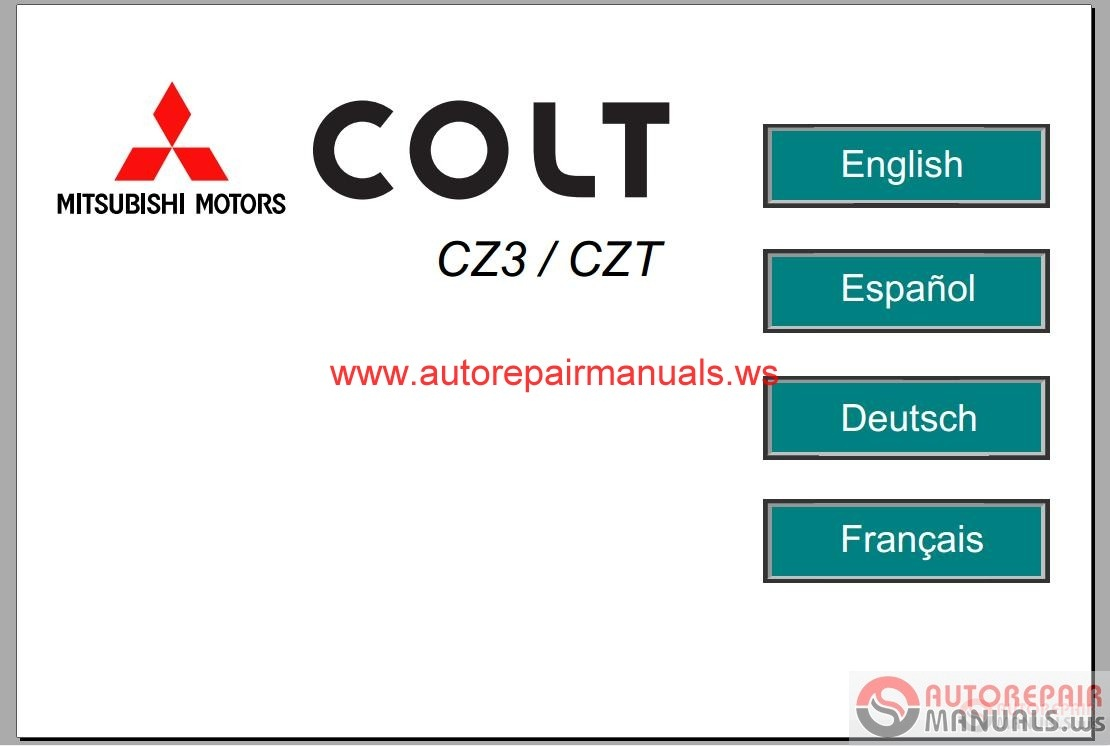 Mitsubishi Colt 2006 Service Manual Auto Repair Manual