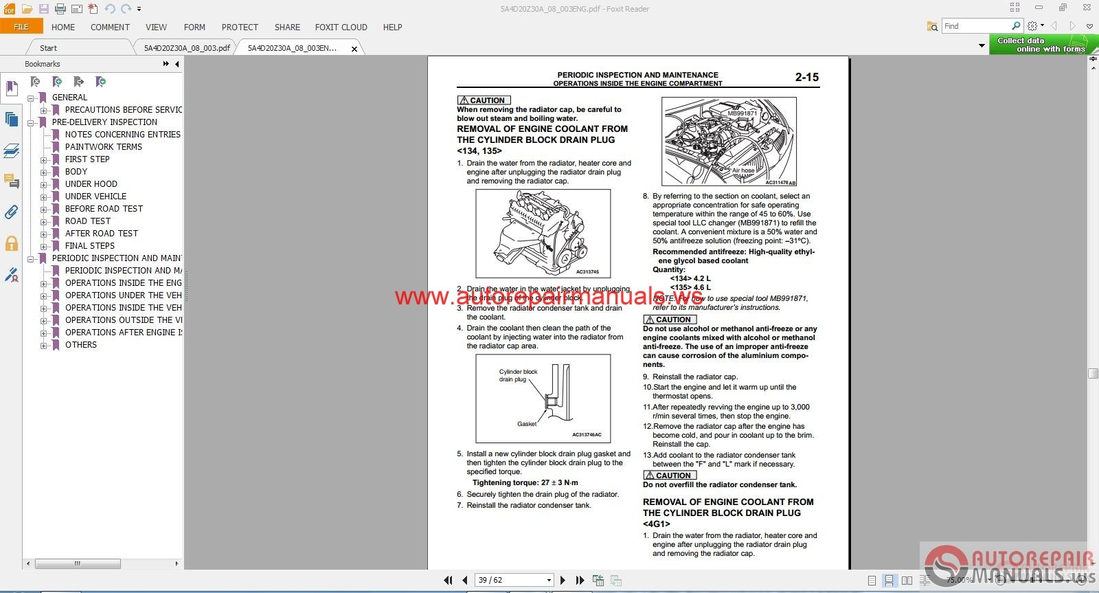 Mitsubishi carisma service manual free download