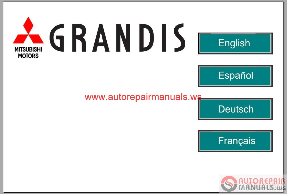 Mitsubishi Grandis 2004 2006 Service Manual Auto Repair