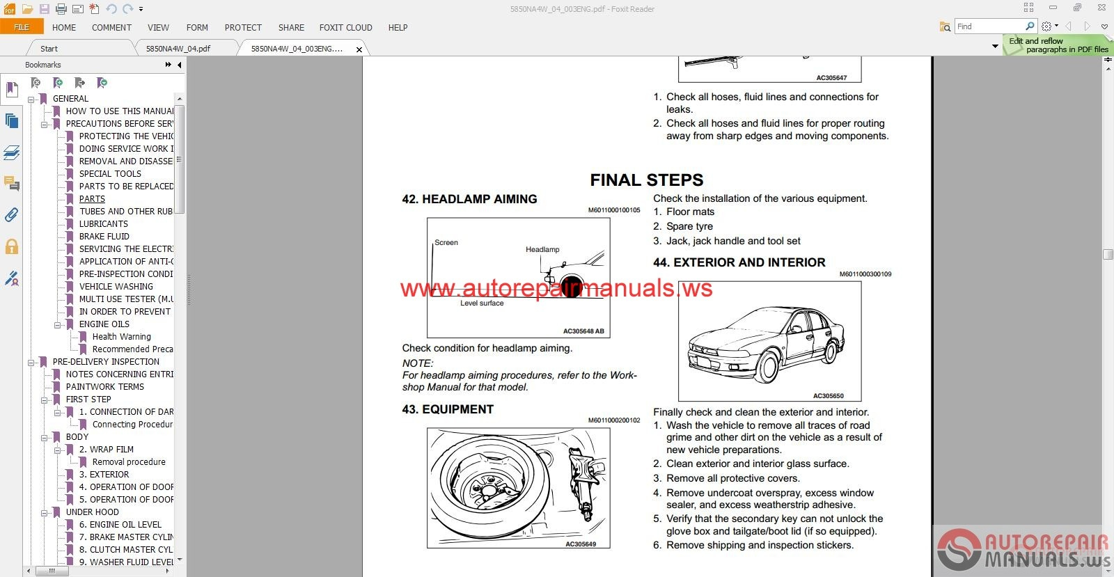 Mitsubishi Grandis 2004_2006 Service Manual | Auto Repair Manual Forum .
