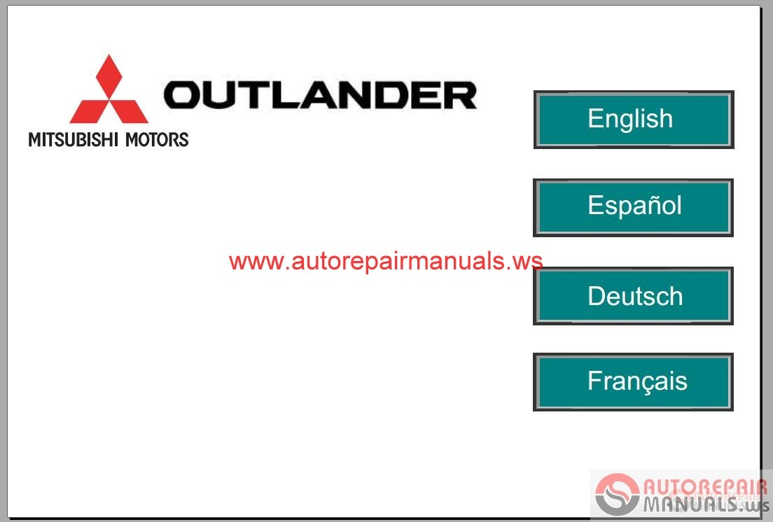 Mitsubishi Outlander Service Manual on 2008 Mitsubishi Lancer Engine