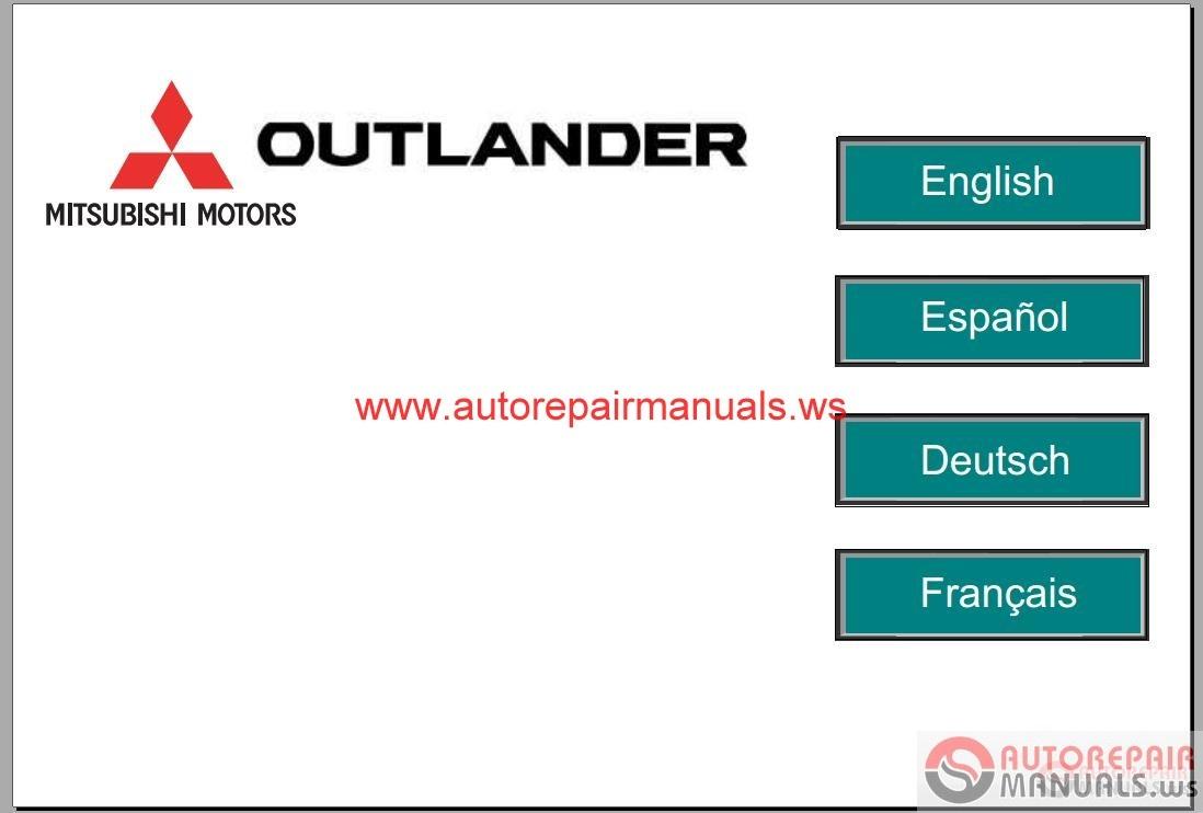 Mitsubishi Outlander Service Manual