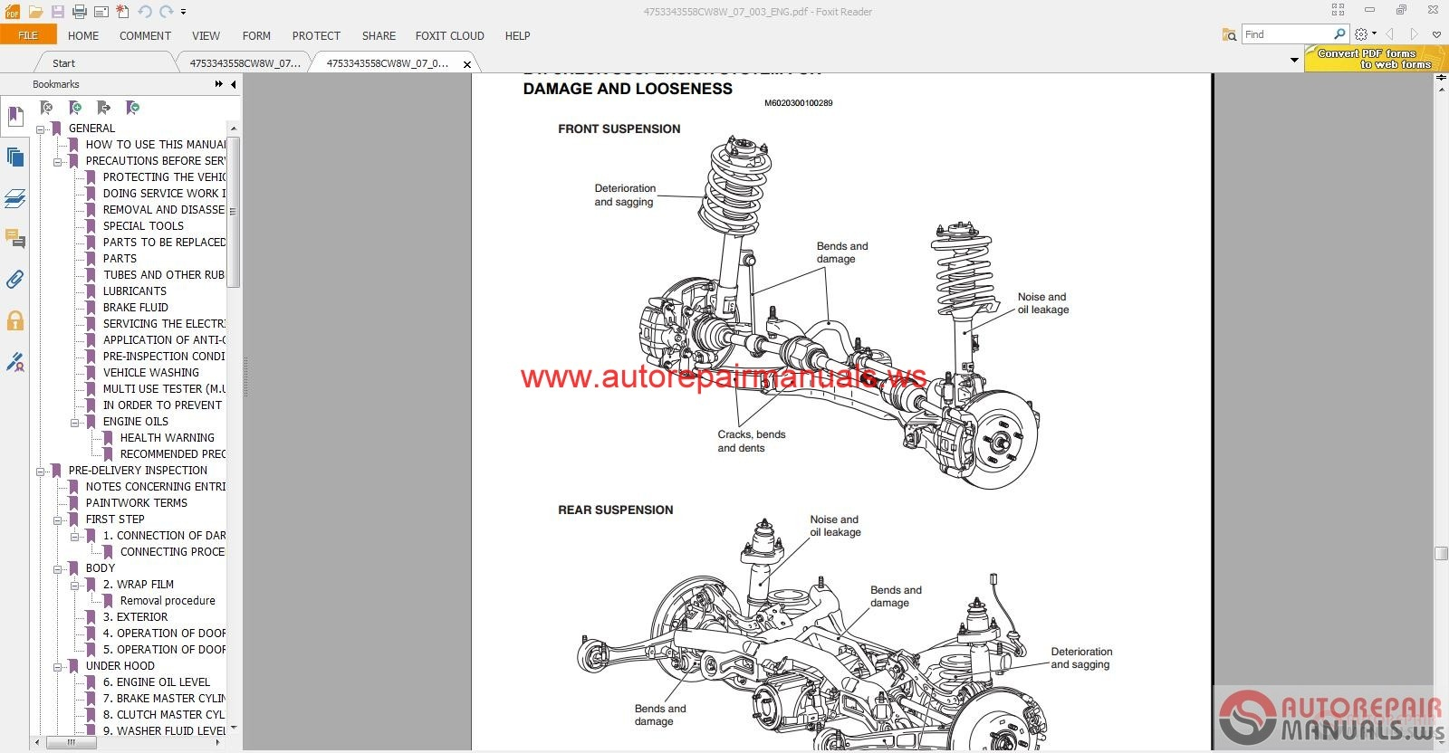 Car Maintenance Manuals 2004 Mitsubishi Outlander Parking