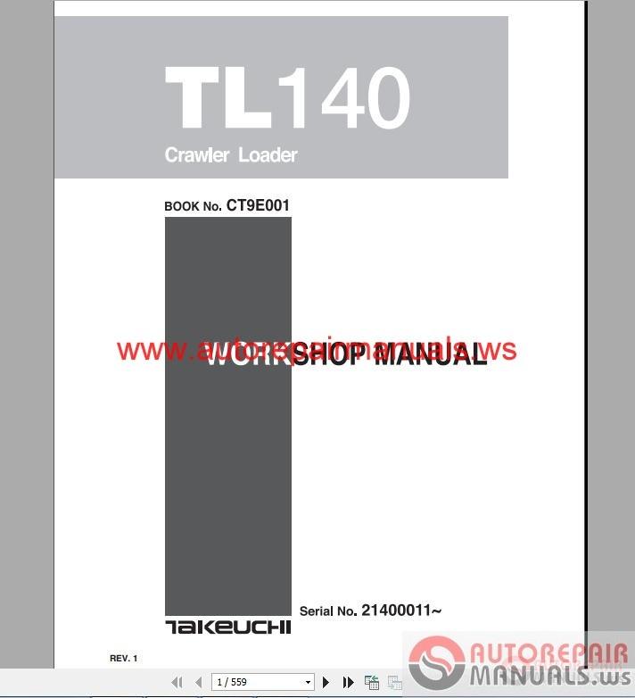 takeuchi dump carrier tl140 ct9e001 workshop manual auto. Black Bedroom Furniture Sets. Home Design Ideas