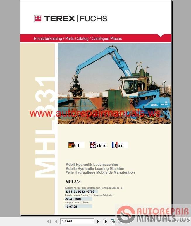 Terex Fuchs MHL331 Parts Catalog | Auto Repair Manual Forum