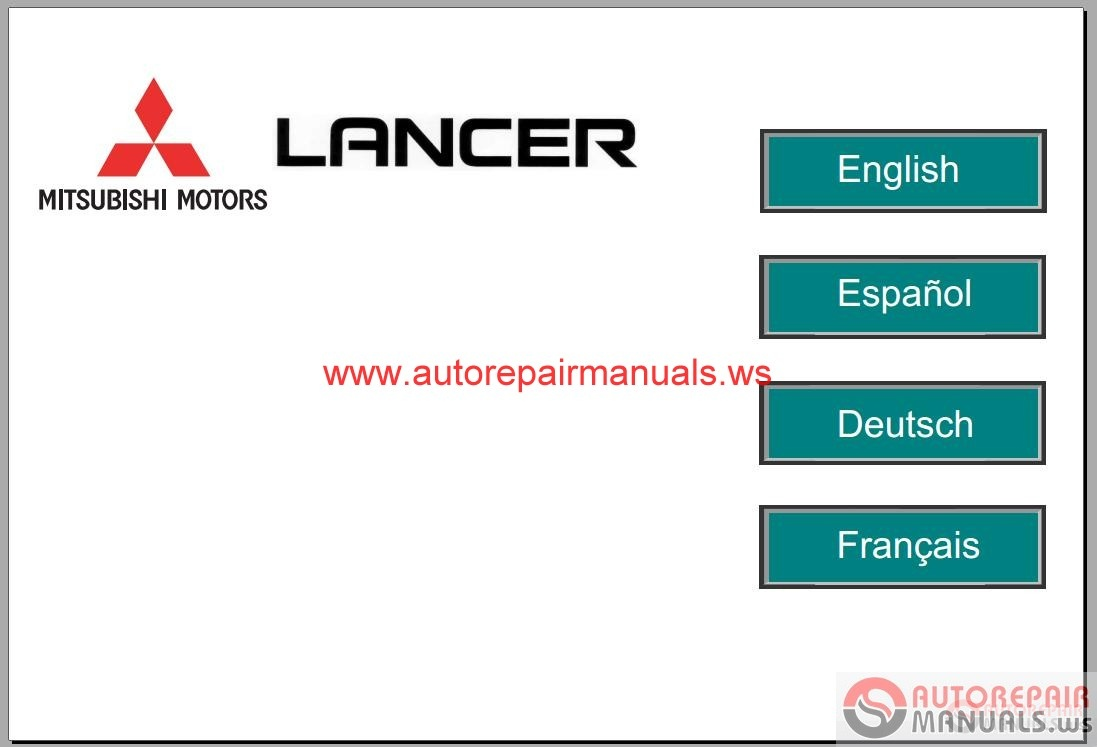 Mitsubishi Lancer EUR 2008 Service Manual | Auto Repair ...