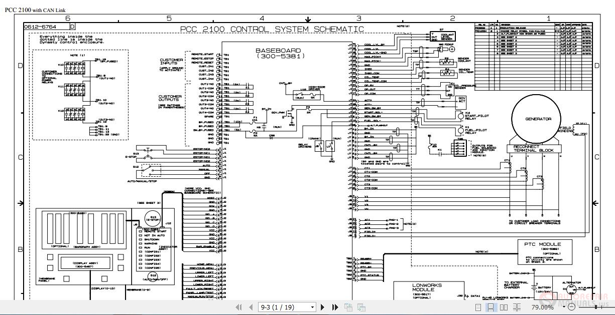 Cummins Power Generation Pcc2100 Control System Schematic