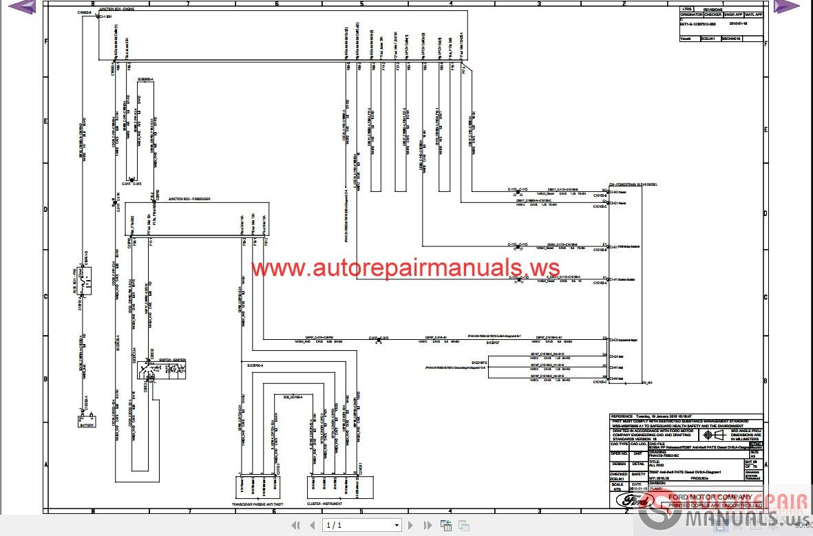 Ford Fiesta 2010 B299 Wiring Diagram