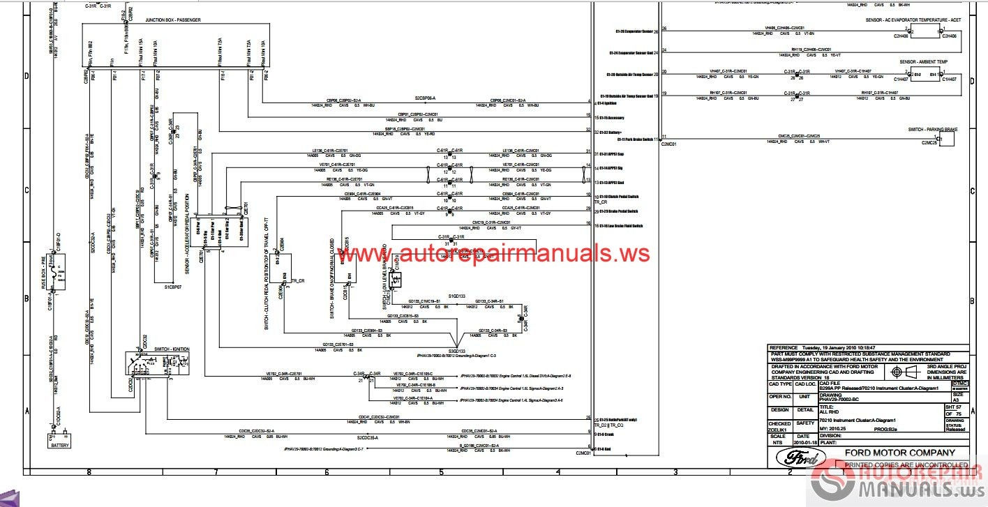 Ford Fiesta 2010 B299 Wiring Diagram | Auto Repair Manual ...