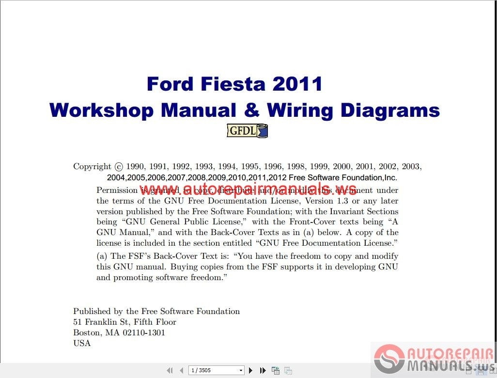 Ford_Fiesta_2011_Workshop_Manual_Wiring_Diagrams1 ford fiesta 2011 workshop manual & wiring diagrams auto repair 2014 ford fiesta wiring diagram at gsmportal.co