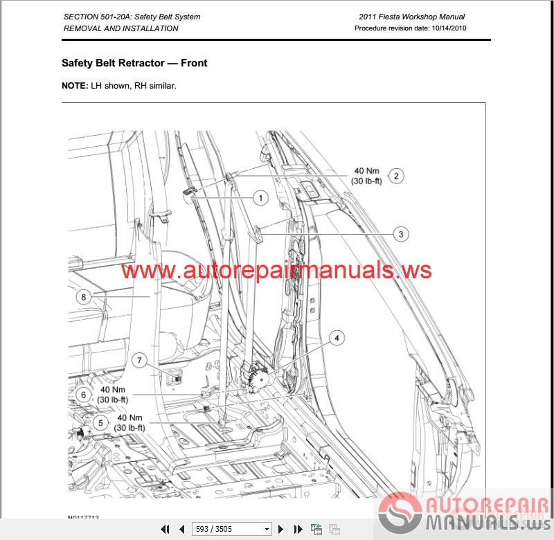 ford fiesta 2011 workshop manual & wiring diagrams | auto ... ford fiesta stereo wiring diagram #9