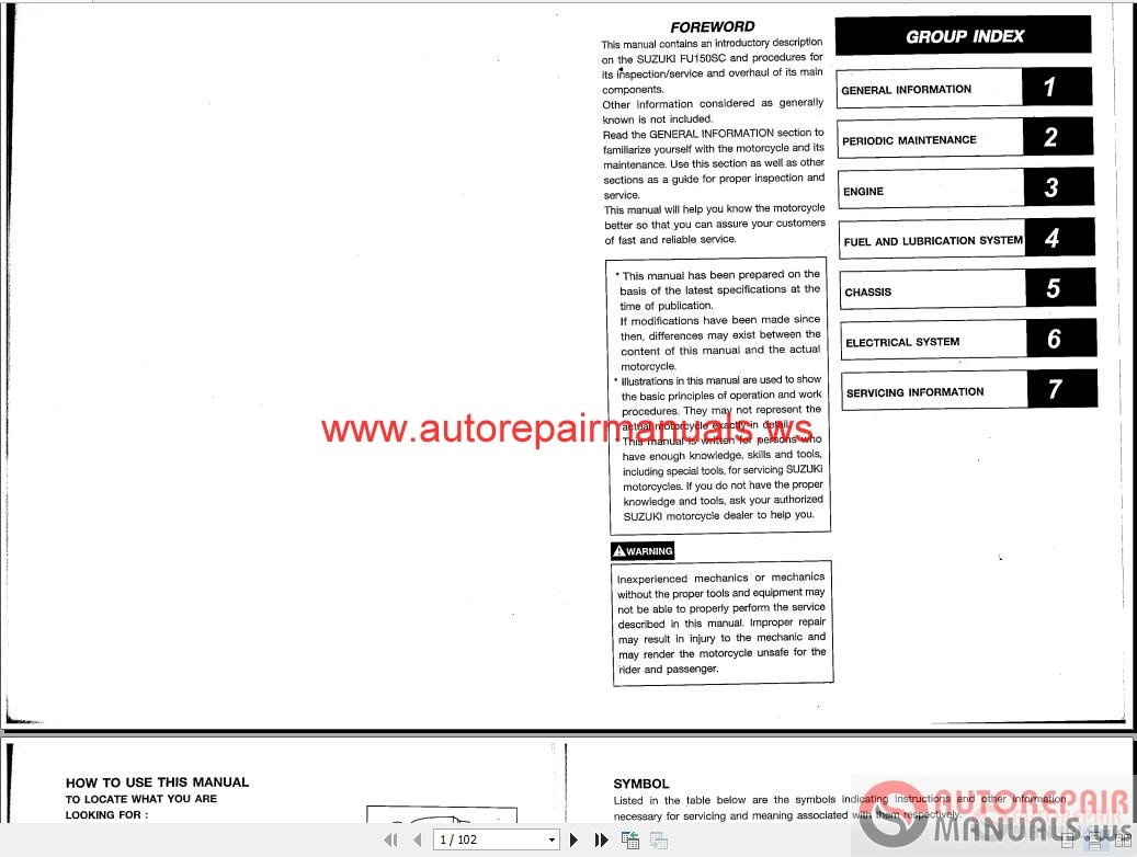 Suzuki Dr125 Repair Manual