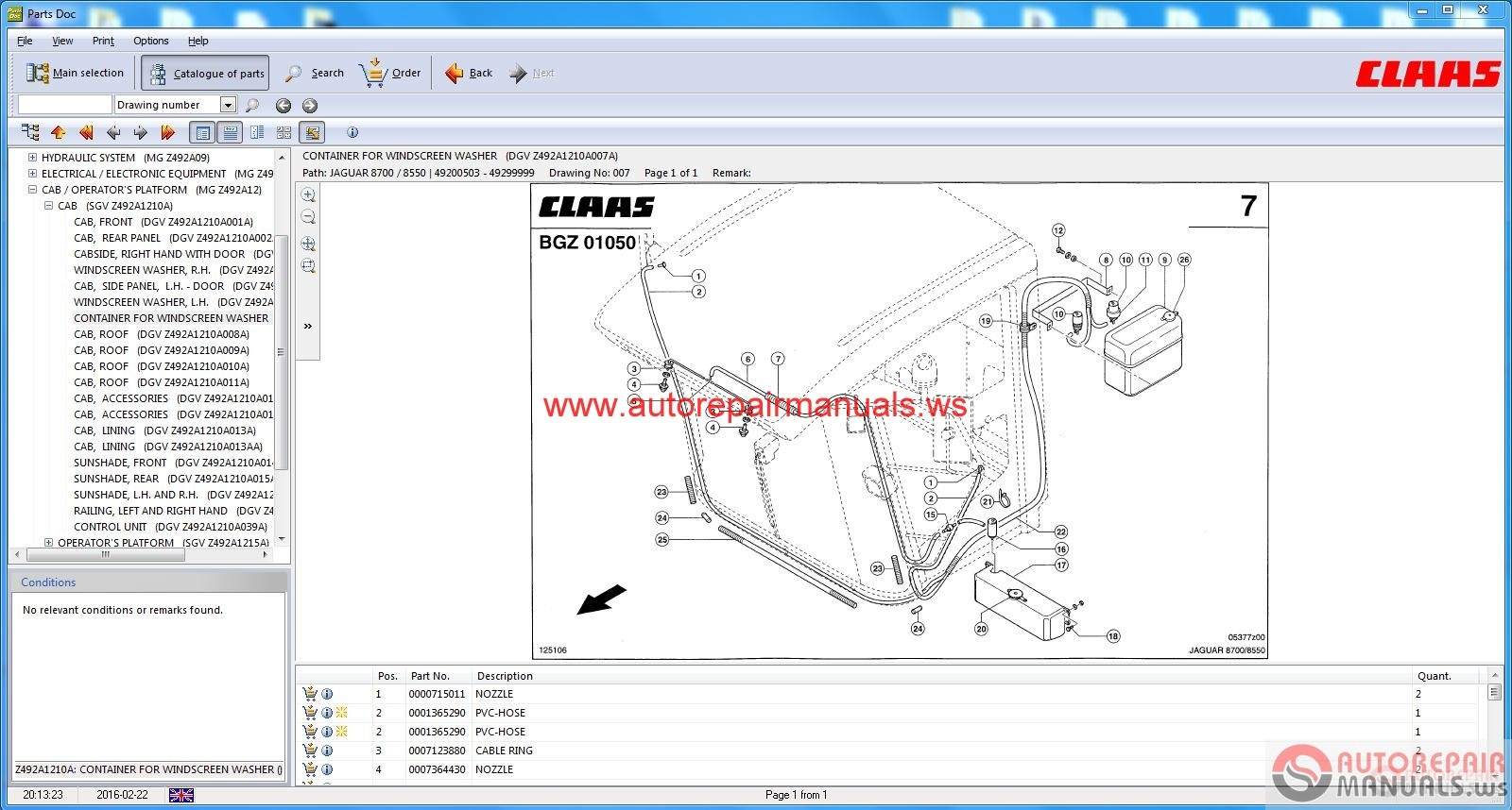 Auto Repair Manuals Claas Parts Doc V 2 0 Agricultural Full border=