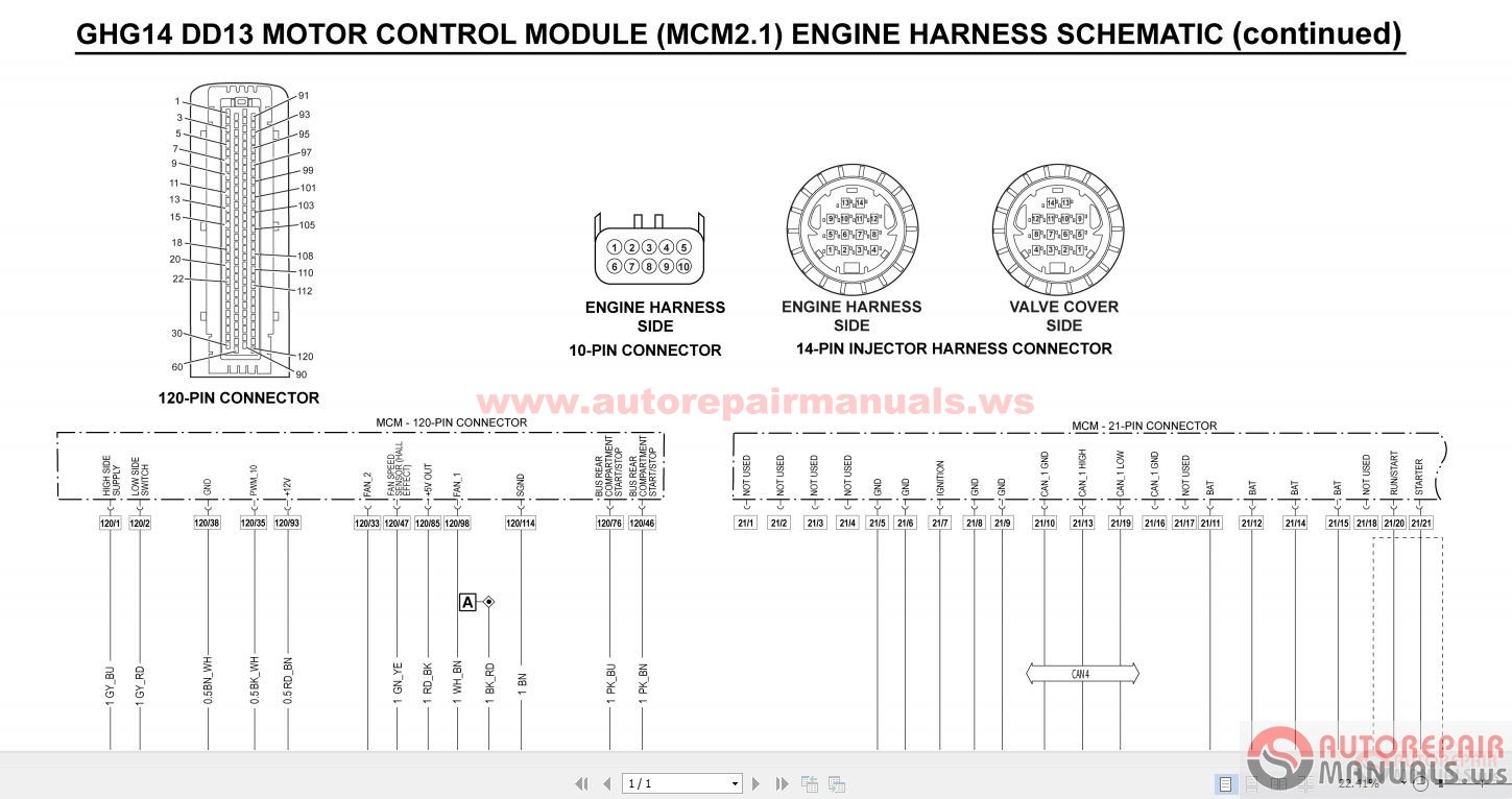 Detroit Wiring Diagrams on Detroit Series 60 Ecm Ddec V Wiring Diagram