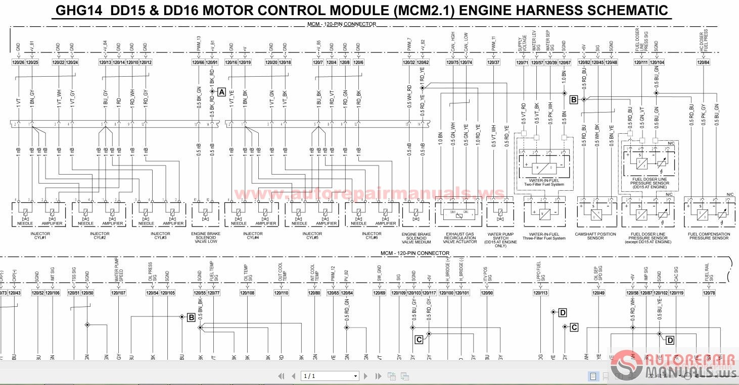 detroit wiring diagrams auto repair manual forum heavy series 60 ddec v engine harness and vehicle interface harness non road equipment page 1 series 60 ddec v engine harness and vehicle interface harness
