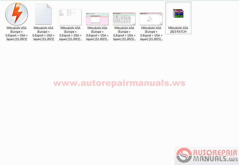 Mitsubishi Asa Europe General Usa Japan 11 2015 Patch Auto Repair Manual Forum