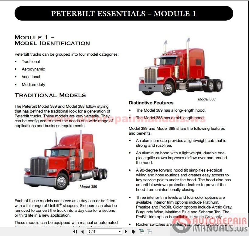 Peterbilt Truck Service Training