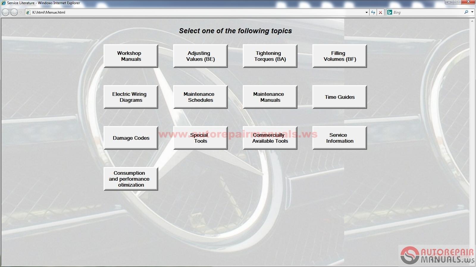 Mercedes benz selit v14 i trucks service literature for Service for mercedes benz