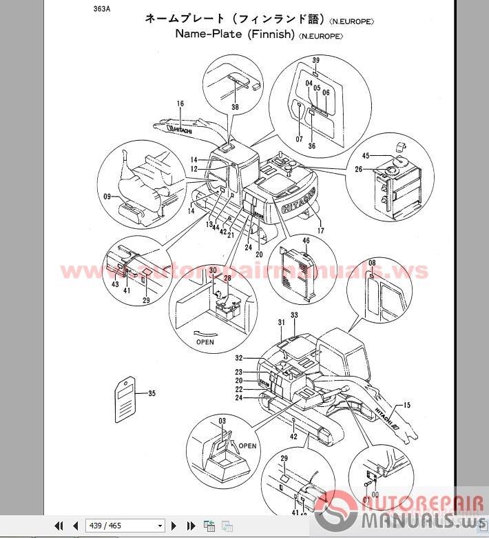 Hitachi EX120 2 Excavator Parts Catalog Auto Repair