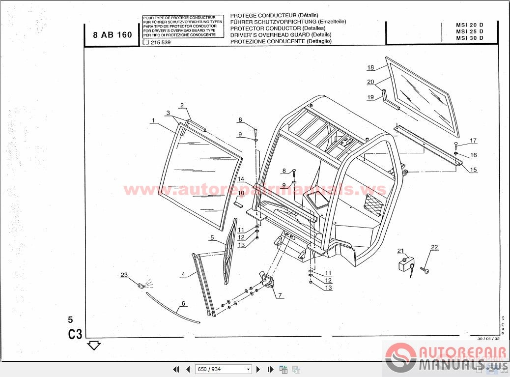 Manitou Msi20 30d Buggie Spare Parts Catalogue