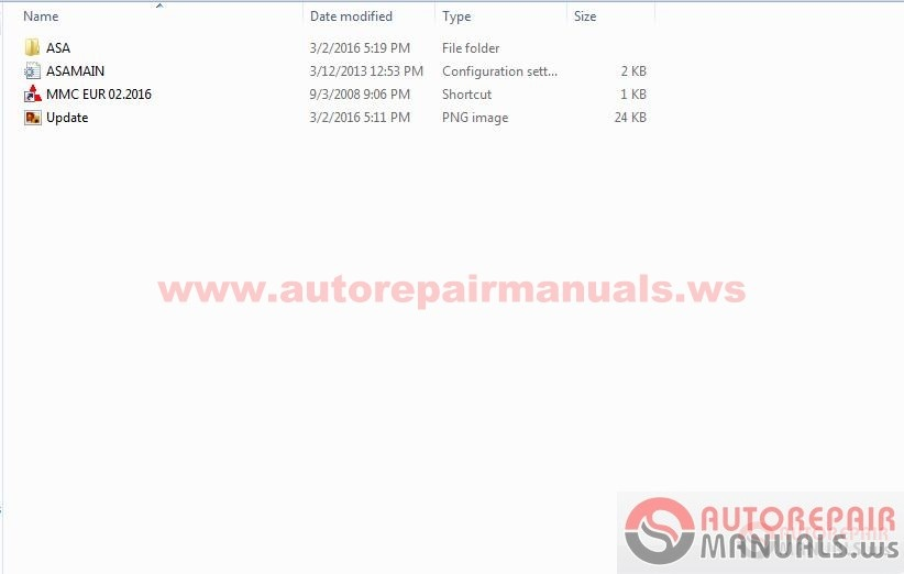 mitsubishi asa europe spare parts  02 2016
