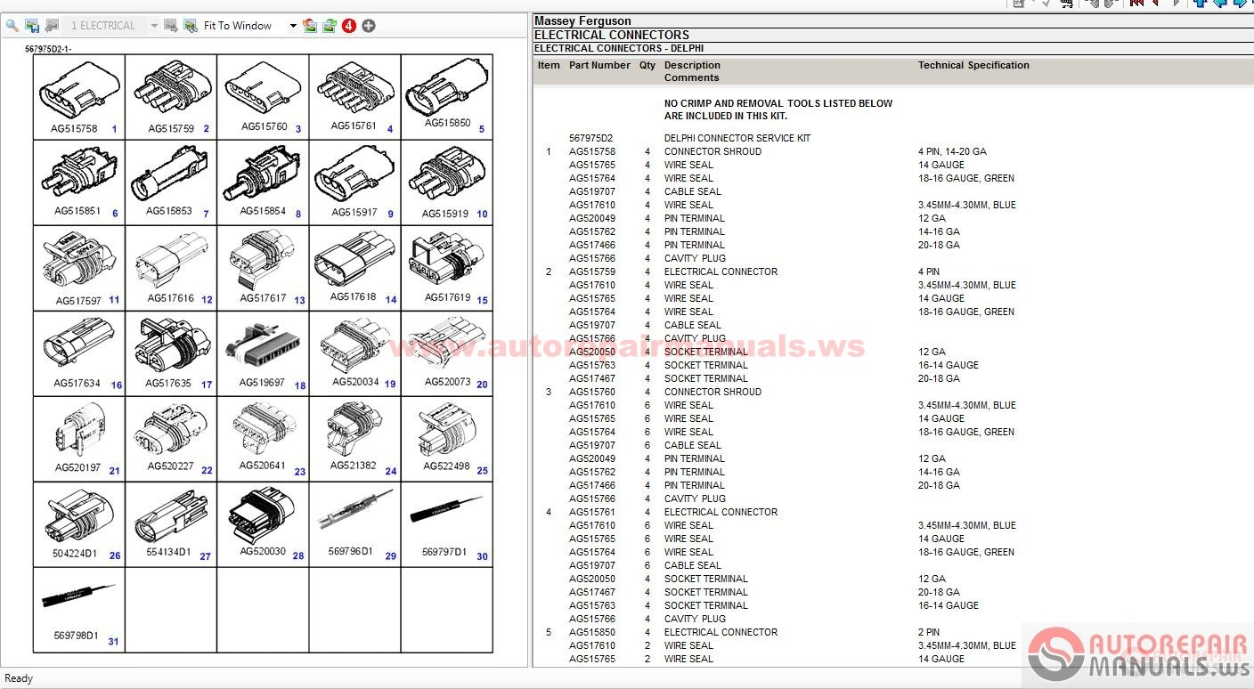 massey ferguson online manuals