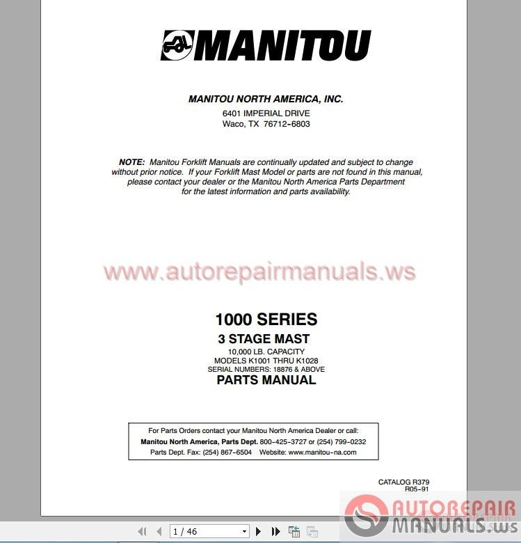 samsung sf50d forklift pdf manual