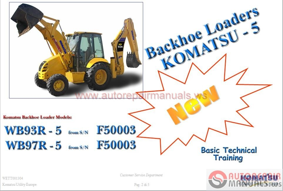 komatsu backhoe loaders wb93r 5 service training auto. Black Bedroom Furniture Sets. Home Design Ideas