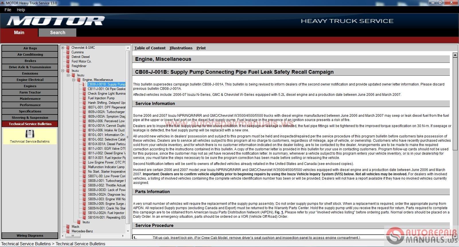 heavy duty truck repair manuals