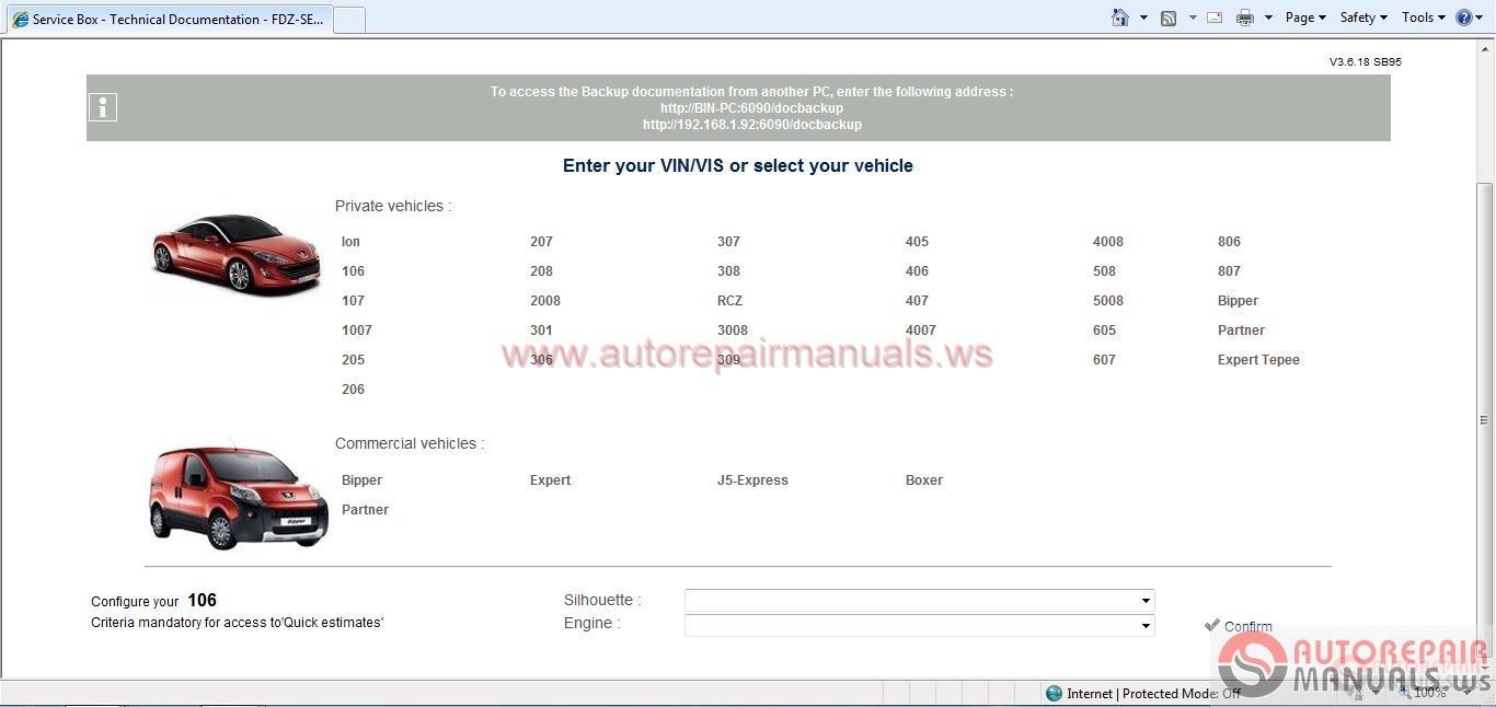 Peugeot Service Box   Sedre  11 2013  Full Instruction