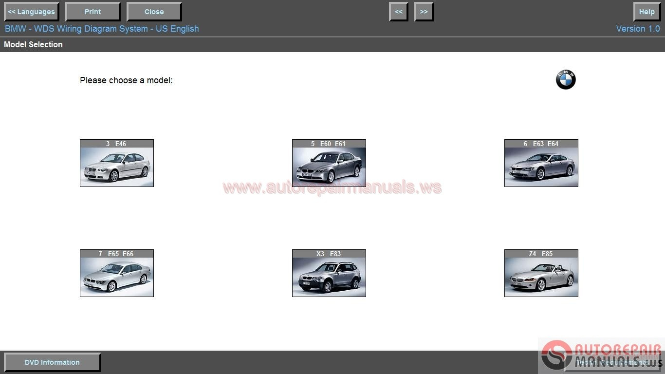 Bmw wiring diagram system wds v  auto repair