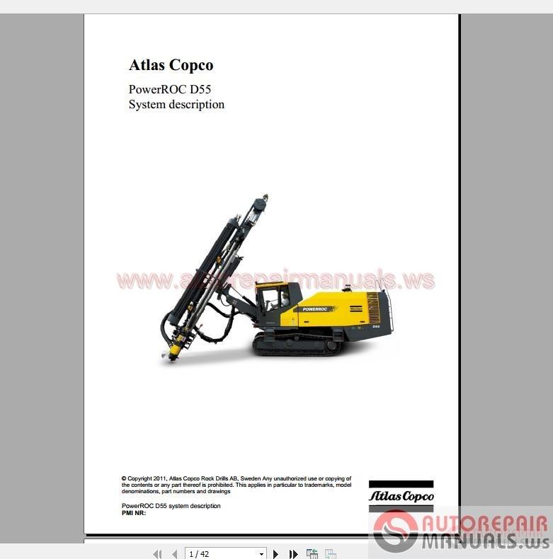 atlas copco power roc d55 system description auto repair manual rh autorepairmanuals ws Atlas Copco Drill Rigs Atlas Copco Parts Catalog