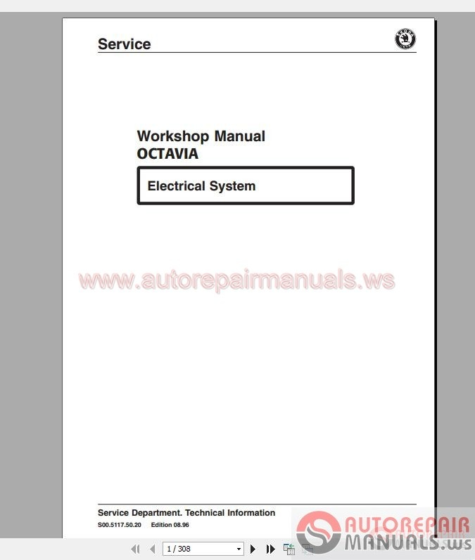 Skoda Octavia 1996 Workshop Manual