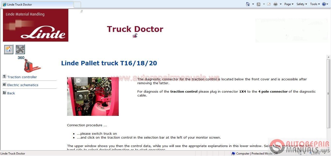 linde truck doctor v2 01 05  01 2016  full   instruction