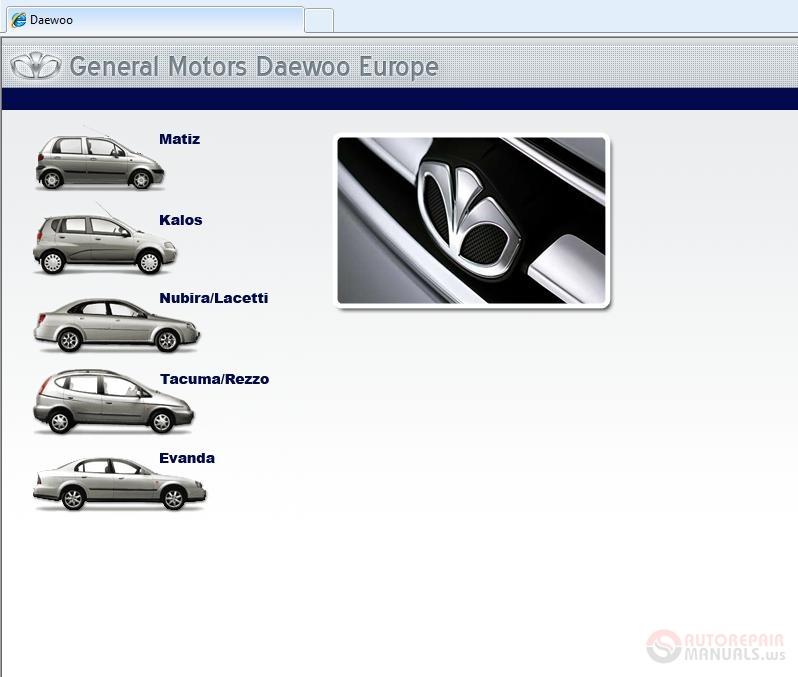 daewoo tis eu service manual auto repair manual forum. Black Bedroom Furniture Sets. Home Design Ideas