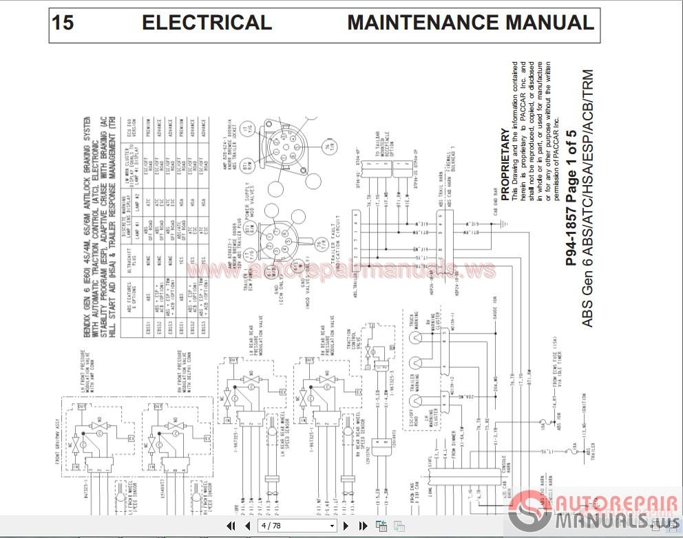 Kenworth Wiring Diagrams T4  T6  U0026 T9 Conventional Models