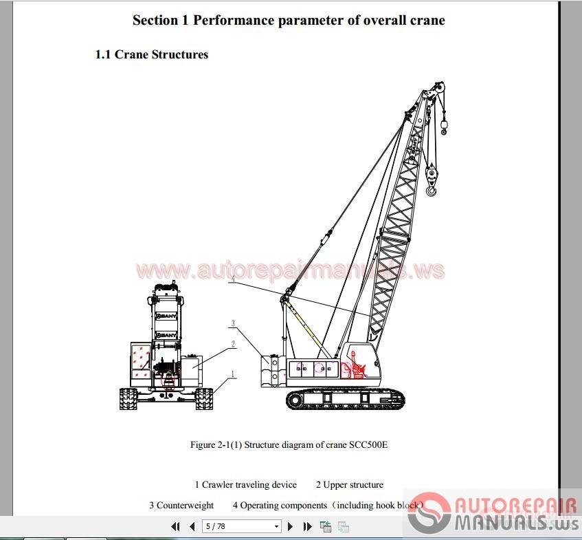 crawler crane schematic