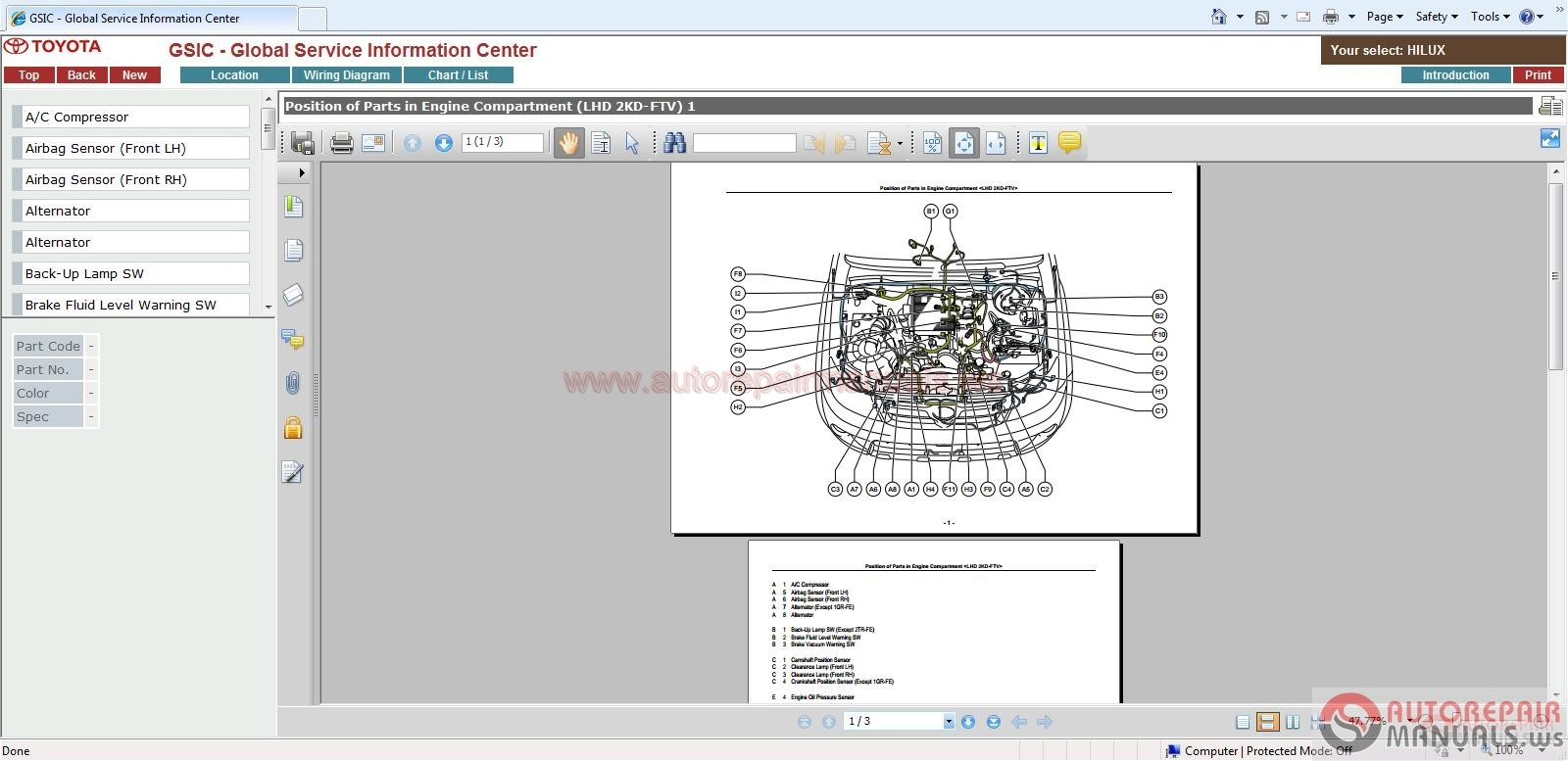 Toyota Hilux Engine 1KD RM1173E Workshop Manual