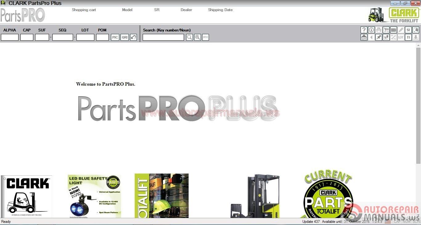 Clark Forklift Parts Pro Plus V437  10 2016  Full