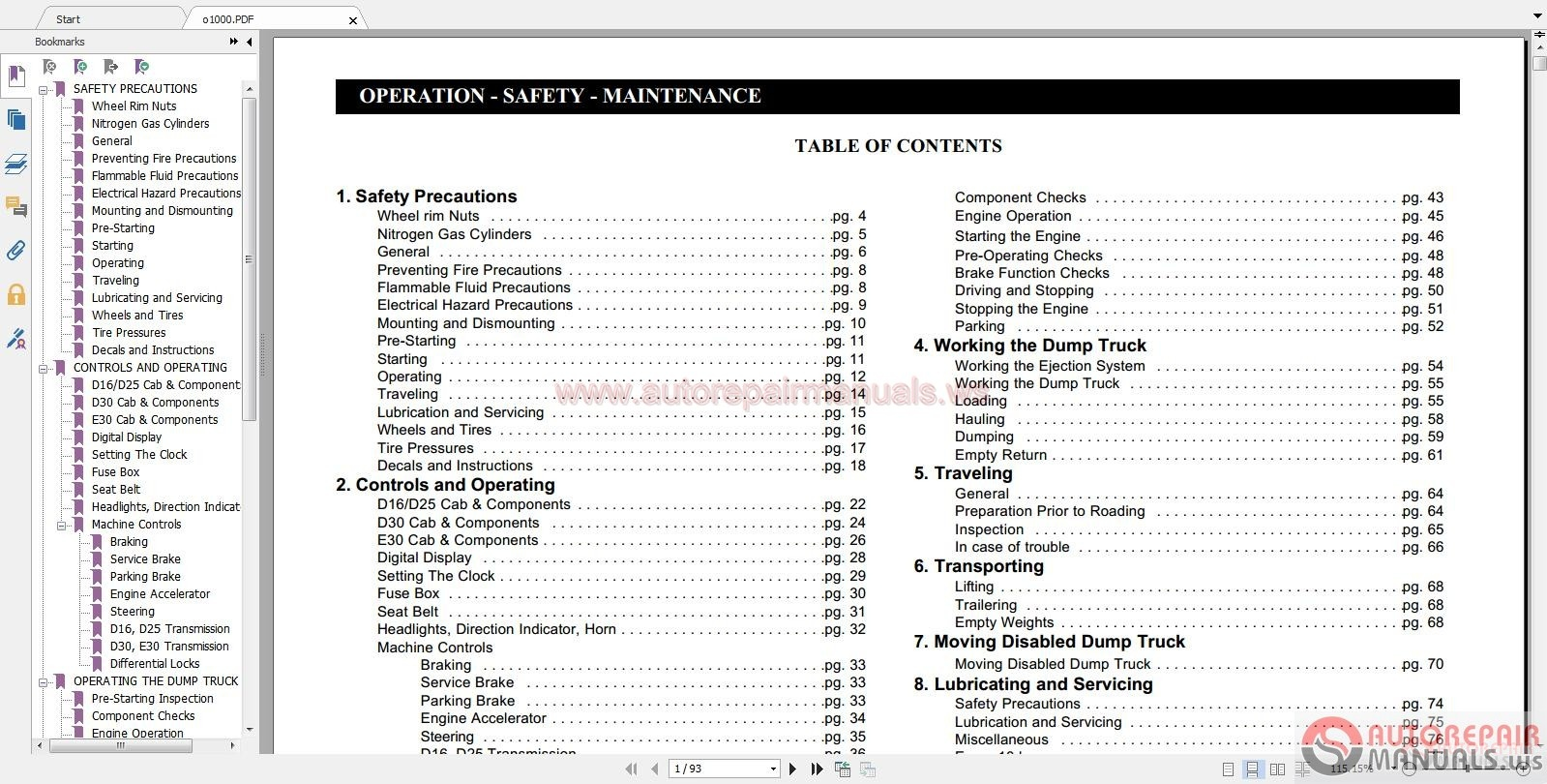auto repair manuals  linkbelt full shop manual  part manual  schematic circuit
