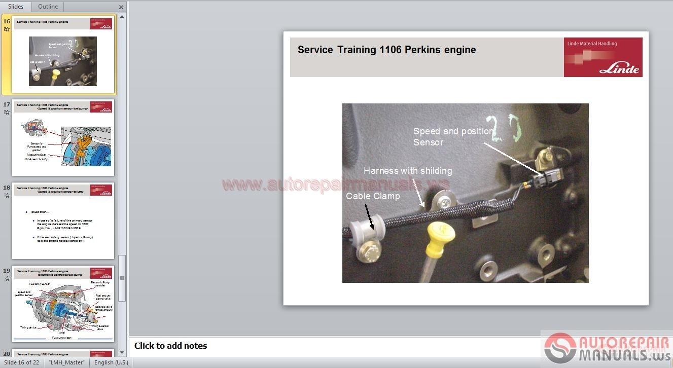 Linde c 80 empty container handler shop manual auto repair