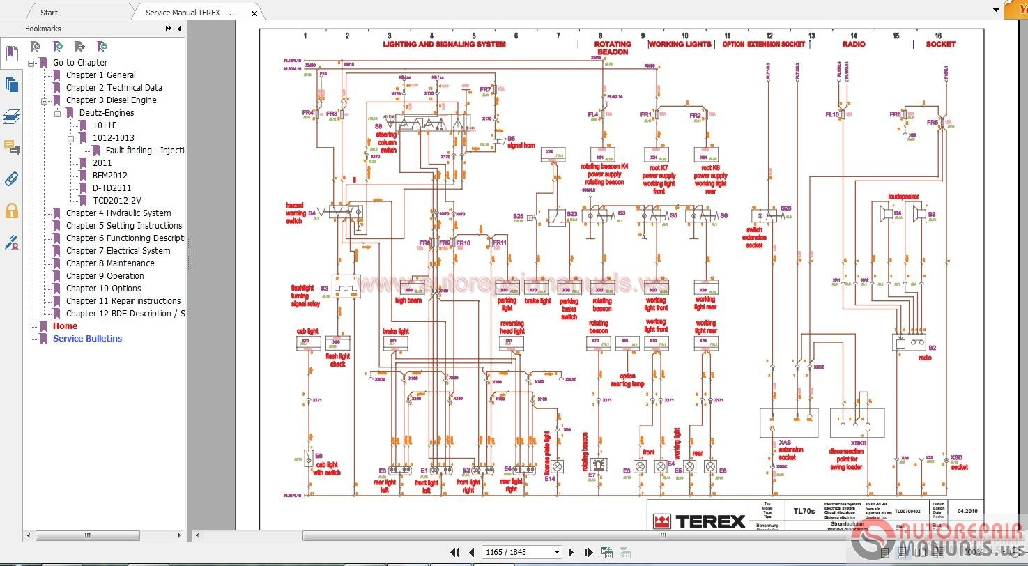 Terex Wiring Diagrams Circuit And Diagram Hub 20 Ton Demag Electrical Schematic Residential For Pt110f