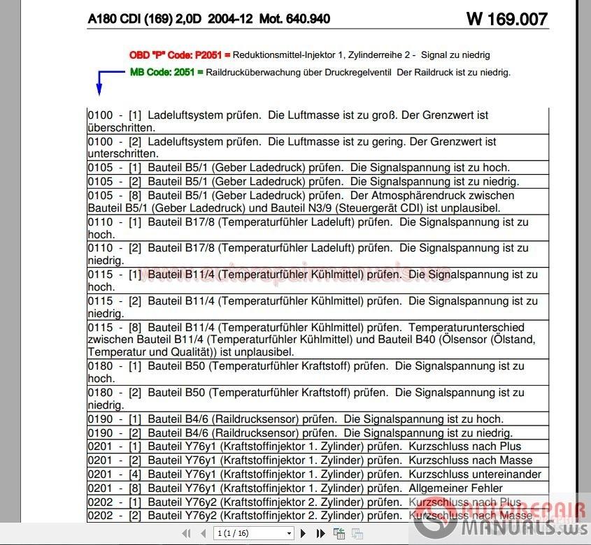 DTC Fehlercode-Mercedes_A180 CDI (169)